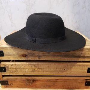 Monoprix Femme Wool Black Fedora Hat